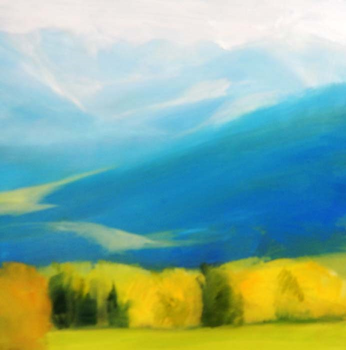 """Bridger Spring"" original fine art by Carolyn Caldwell"
