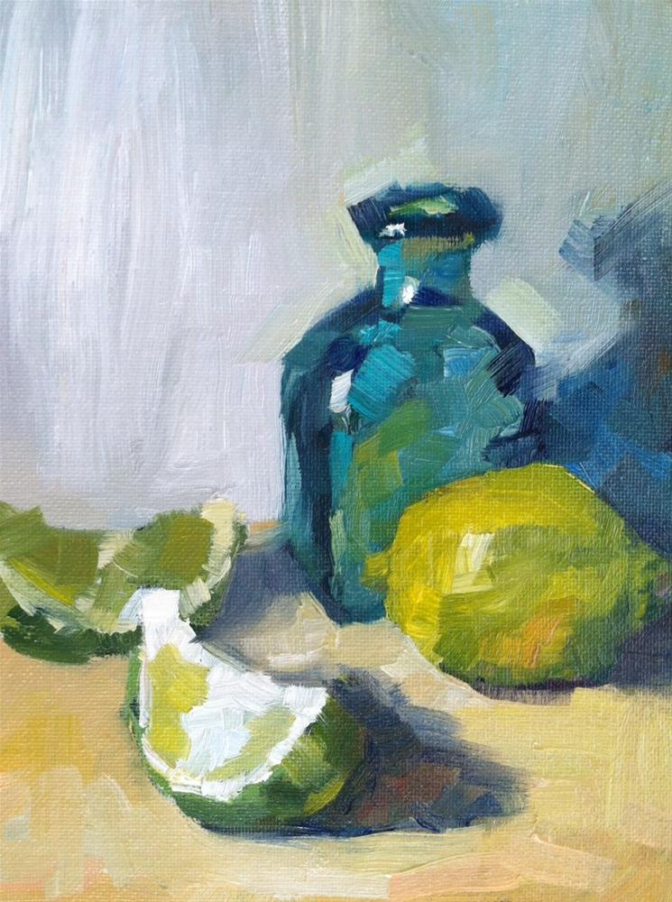 """""""Study in Green and Blue"""" original fine art by Michael Williamson"""