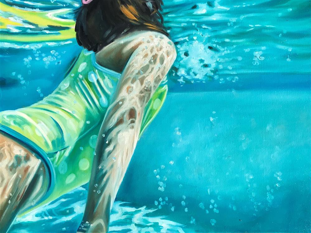 """""""Under water"""" original fine art by Sonja Neumann"""