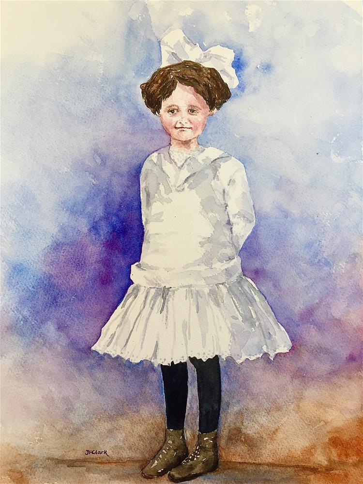 """Thelma and her New Dress"" original fine art by Judith Freeman Clark"