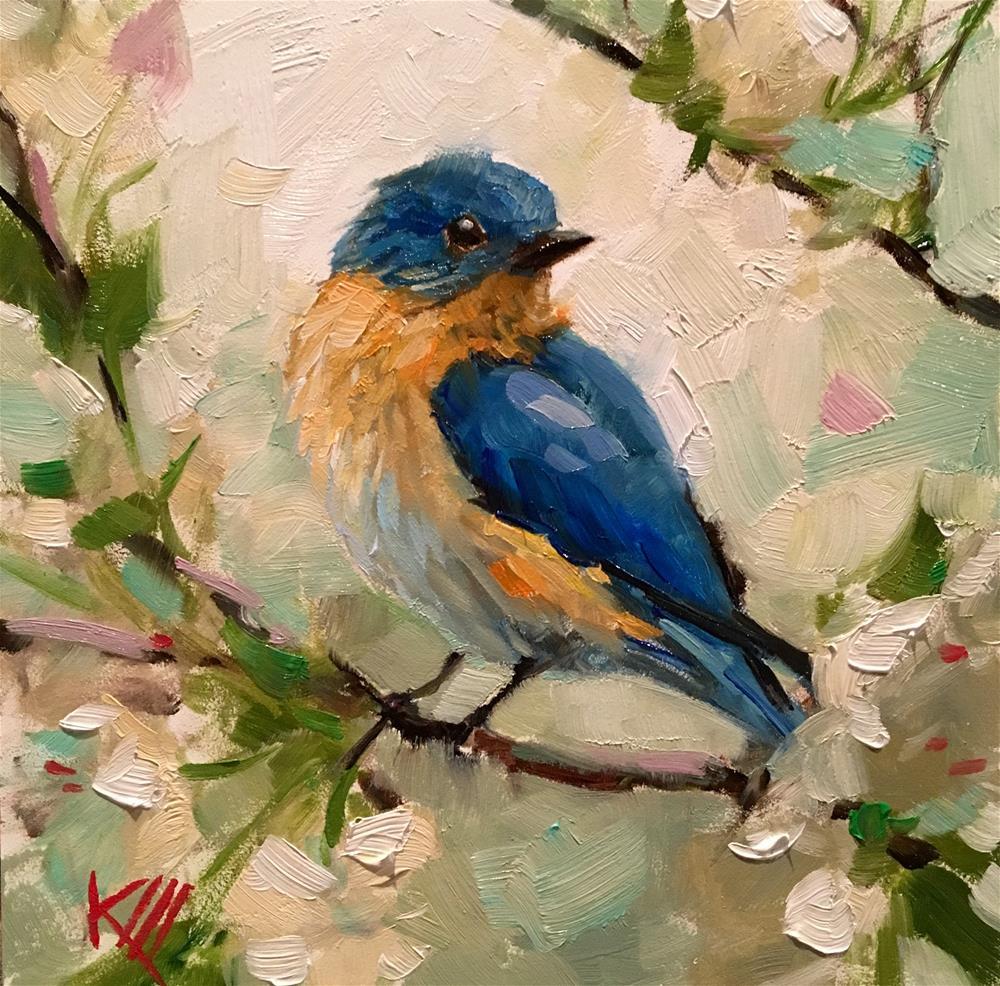 """Blue Bird"" original fine art by Krista Eaton"