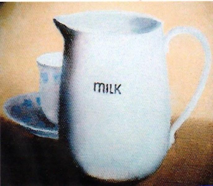 """Tea with Milk"" original fine art by Gloria  Nehf"