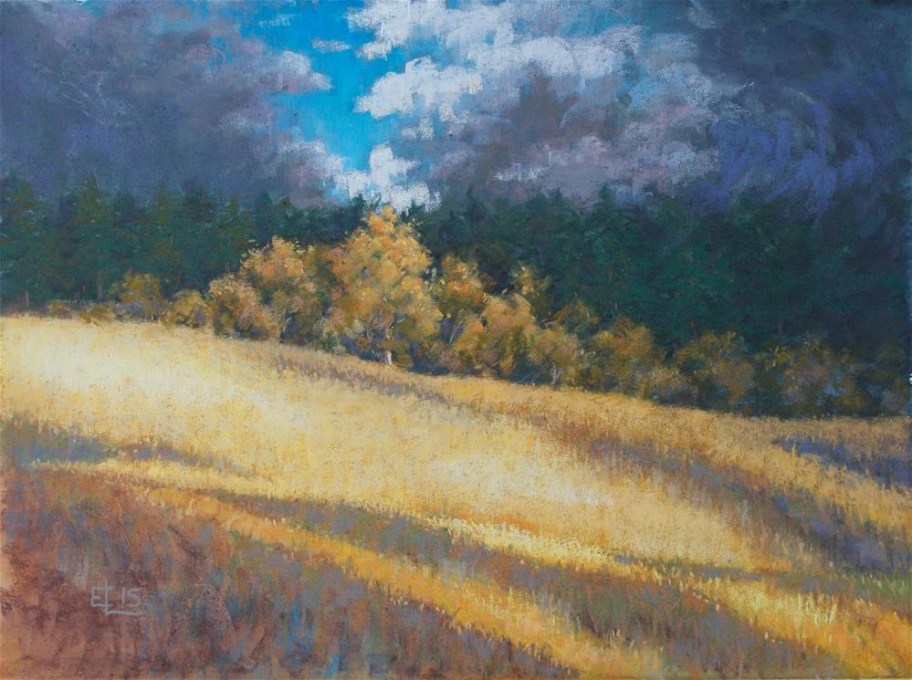 """Autumn Thunderstorm"" original fine art by Emilia Leinonen"