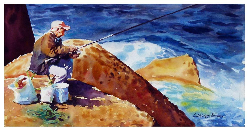 """Fishing."" original fine art by Graham Berry"