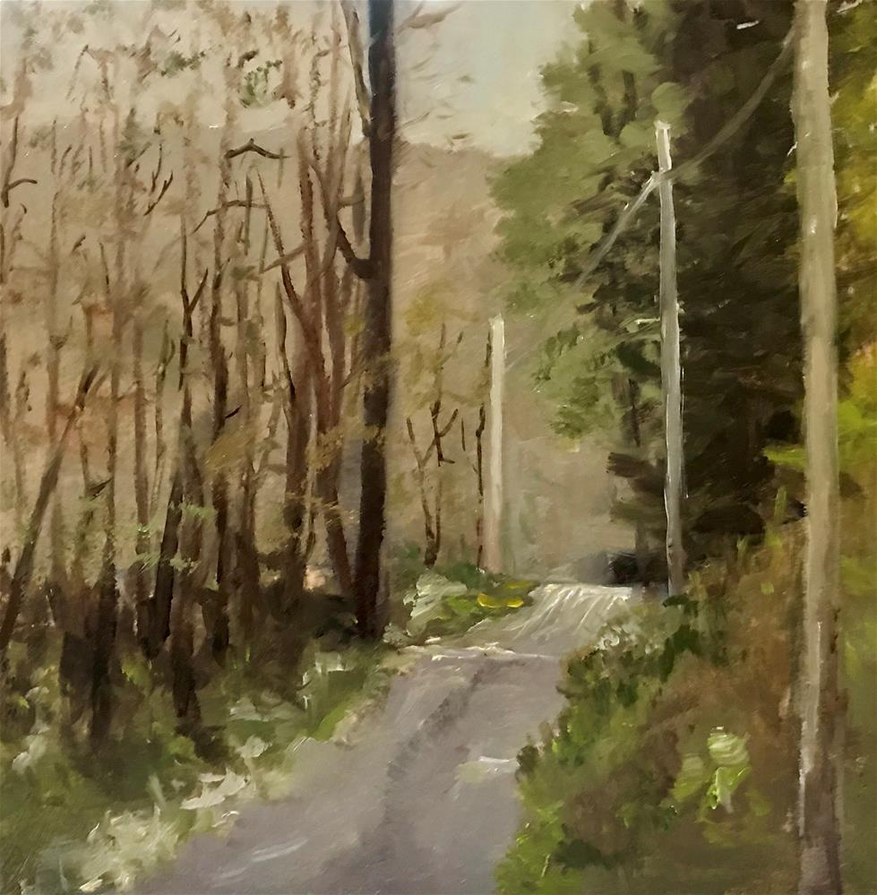"""almost to my house"" original fine art by Betty Argiros"
