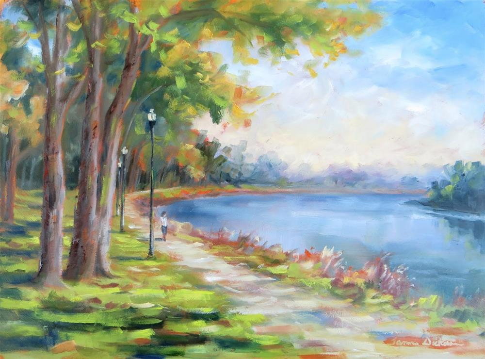 """A Run by the Missouri River"" original fine art by Tammie Dickerson"