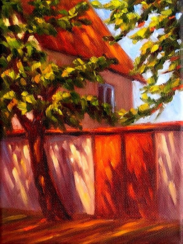 """""""Red Gate"""" original fine art by Irina Beskina"""