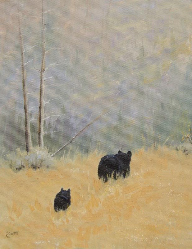 """""""Mama & Baby Bear"""" original fine art by Bonnie Bowne"""