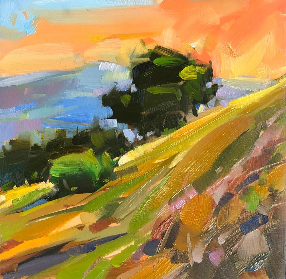 """Oak Tree Uphill Hike"" original fine art by Cathleen Rehfeld"