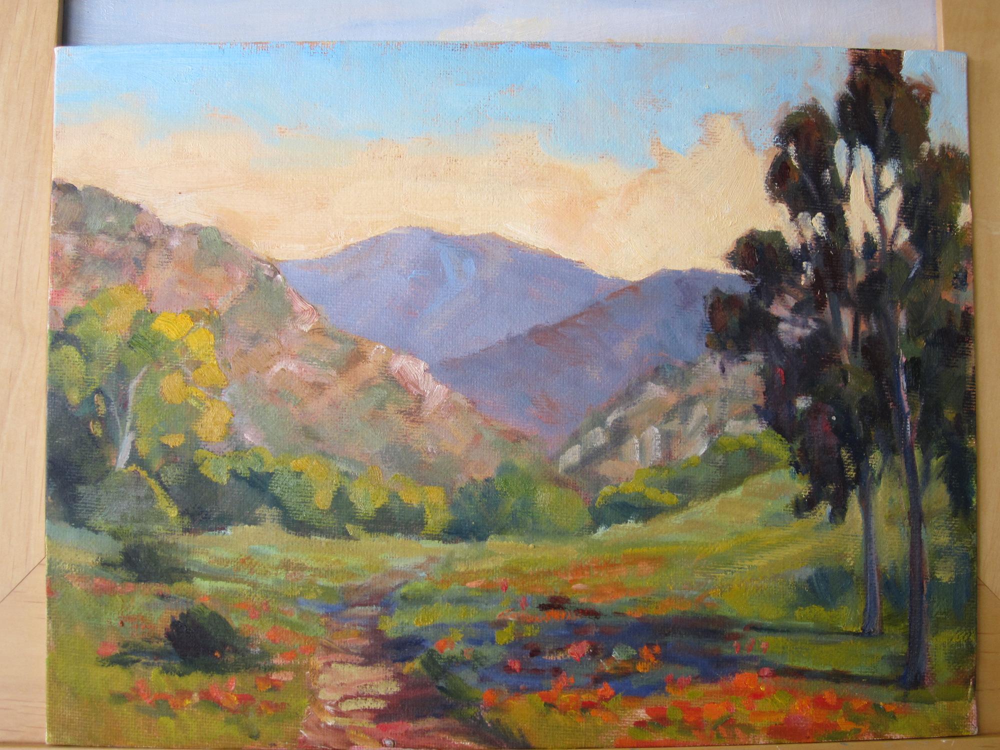 """foothills"" original fine art by Leigh Alexandra Sparks"