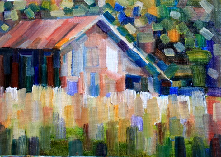 """Rectangles"" original fine art by Maggie Flatley"