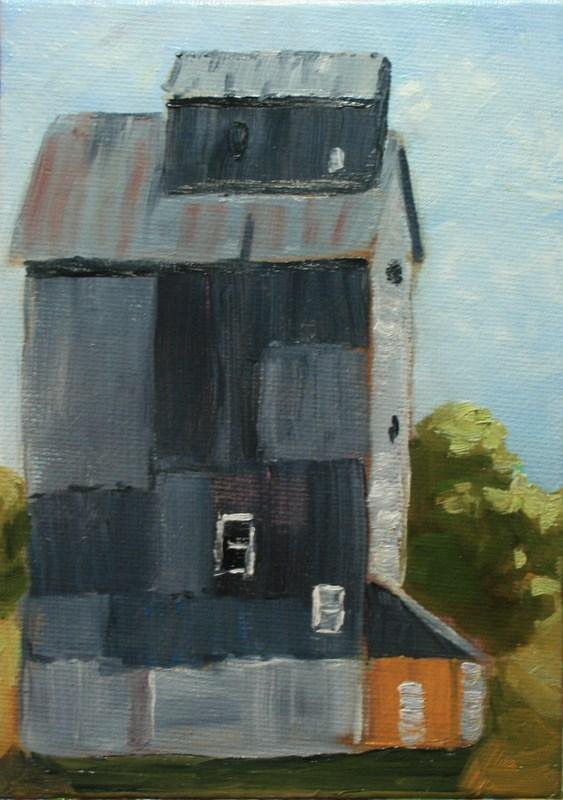 """Farm Building"" original fine art by Jean Nelson"