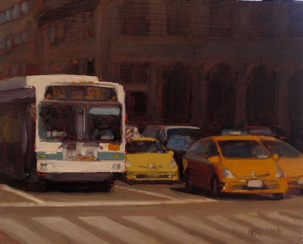 """crosstown traffic"" original fine art by Dan Graziano"