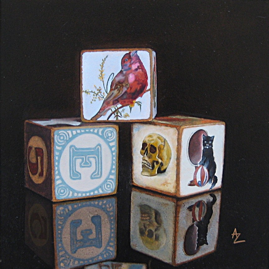 """""""Memory Blocks: e-Bird"""" original fine art by Alex Zonis"""