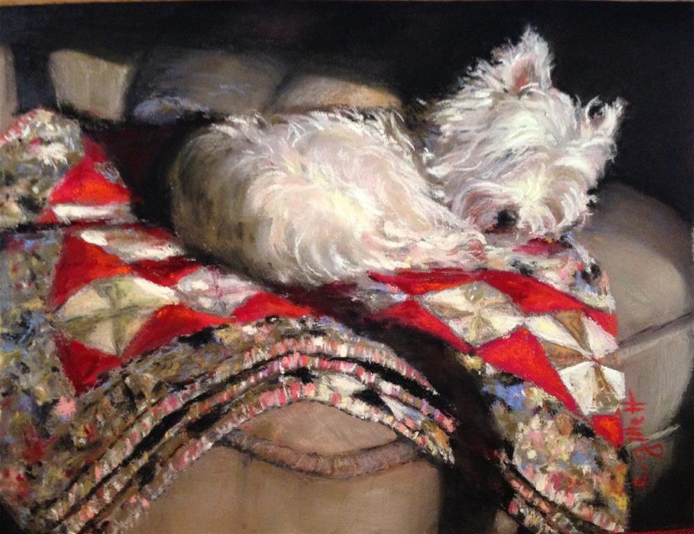 """Warm Place By The Window"" original fine art by Cindy Gillett"