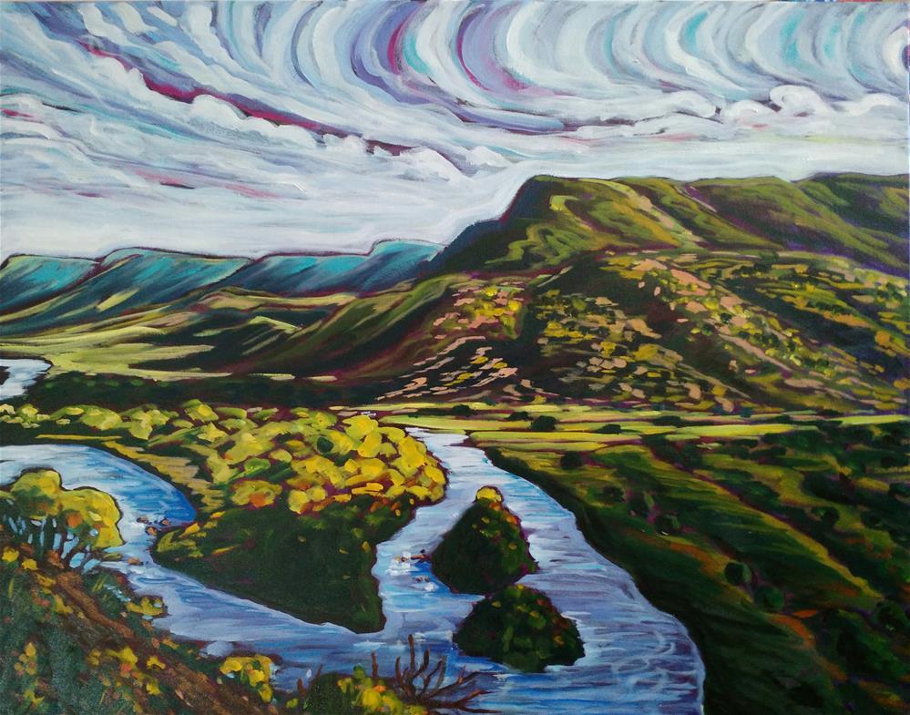 """""""Rio Chama Shadows"""" original fine art by Robyn Wellman"""