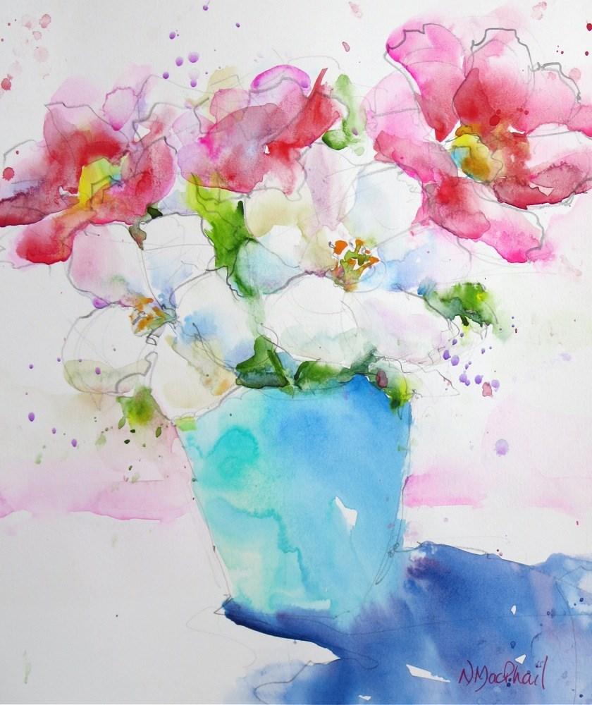 """wade across"" original fine art by Nora MacPhail"