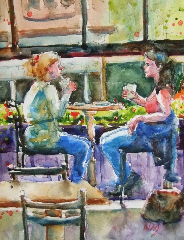 """""""hangin' out"""" original fine art by Nora MacPhail"""