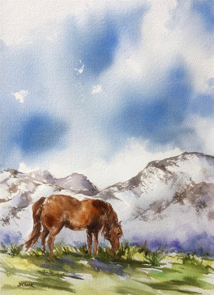 """Grazing"" original fine art by Judith Freeman Clark"