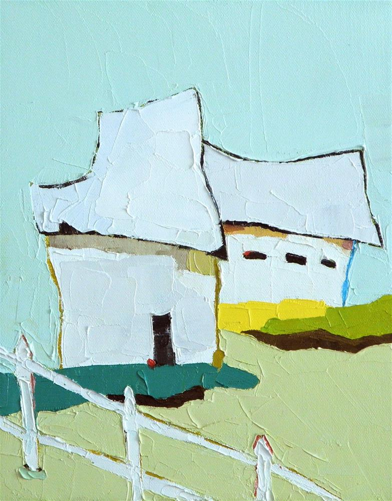 """White Picket"" original fine art by Donna Walker"