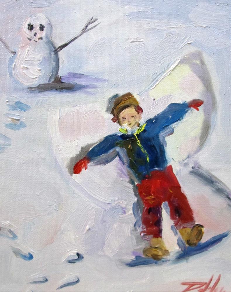 """Snow Angel No. 2"" original fine art by Delilah Smith"