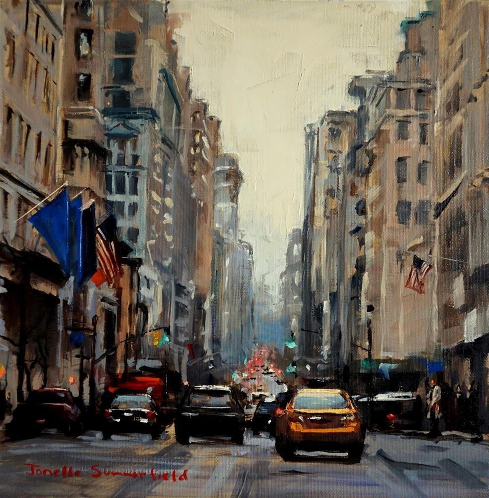 """Five O'Clock in Manhattan"" original fine art by Jonelle Summerfield"