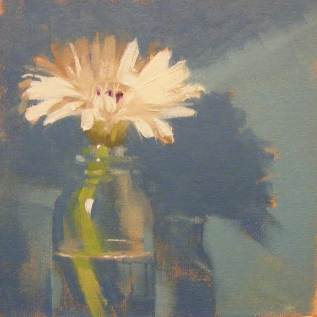 """GERBERA BLUE"" original fine art by Helen Cooper"