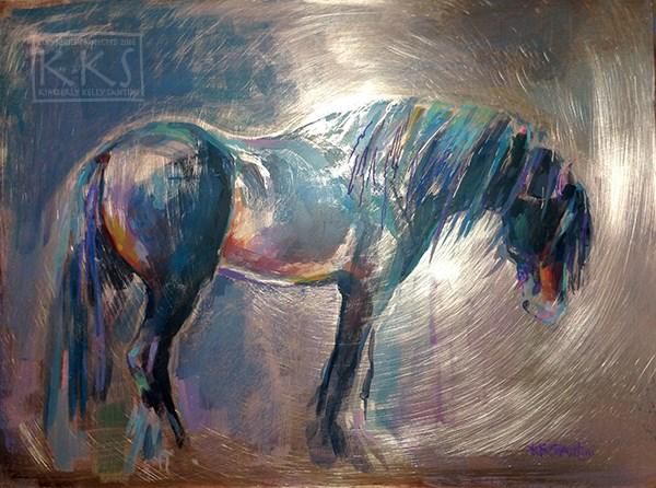"""Neptune"" original fine art by Kimberly Santini"