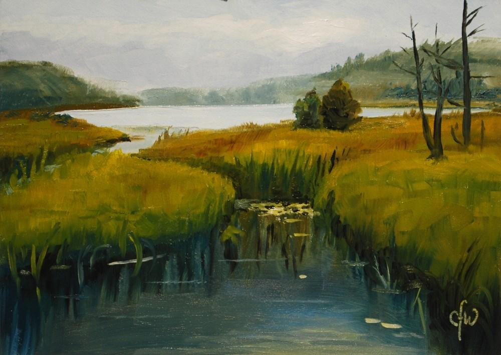 """Northern Lake"" original fine art by Gary Westlake"