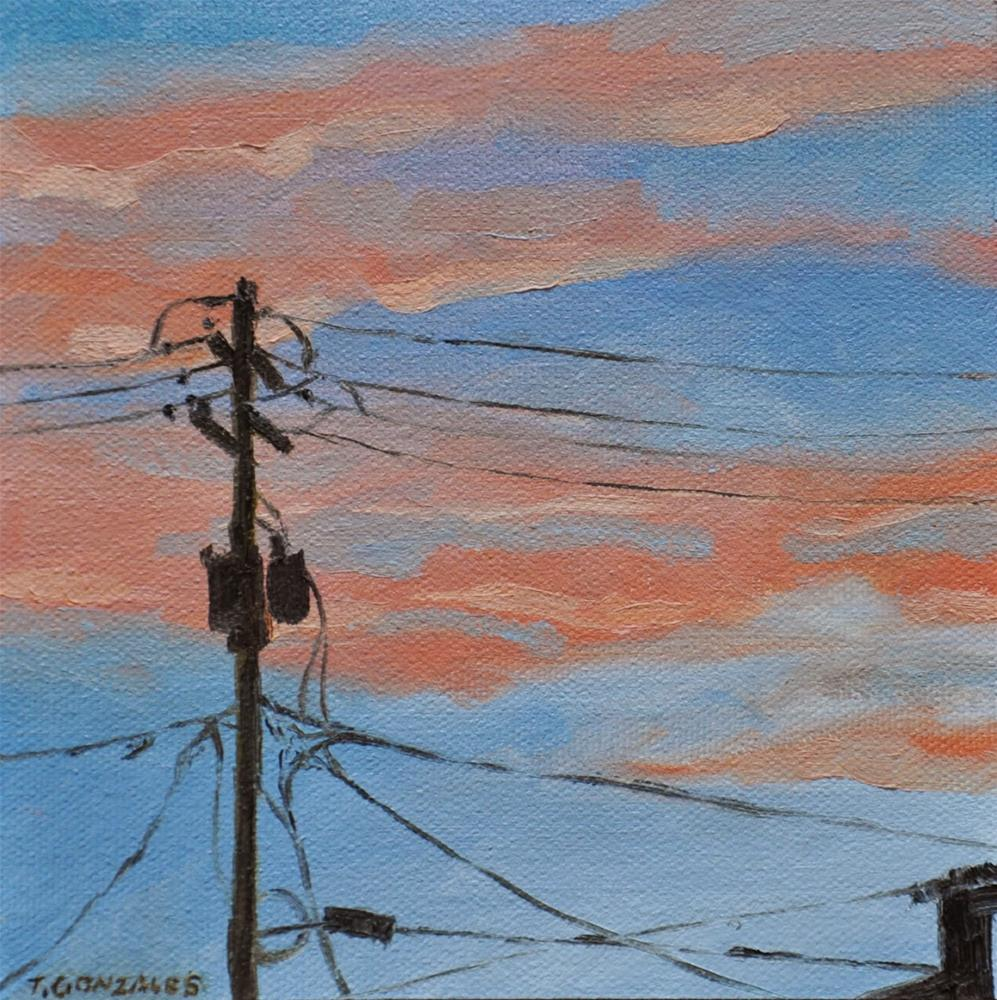 """""""Sunset and Lines"""" original fine art by Theresa Gonzales"""
