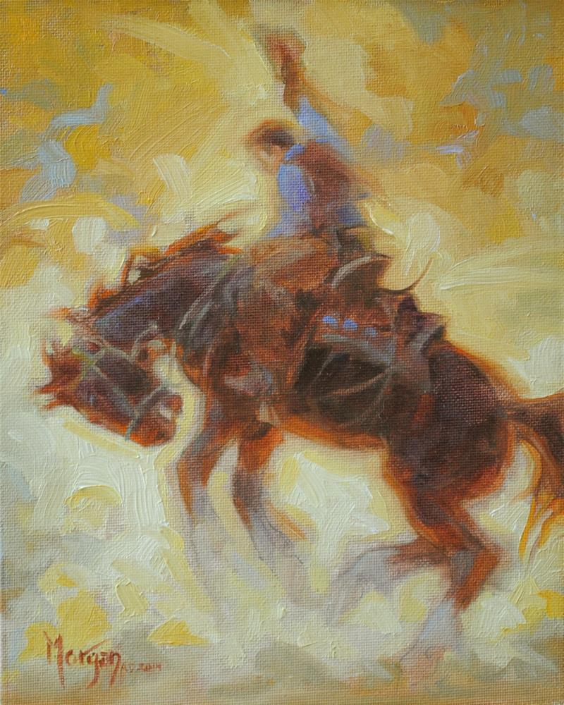 """""""Buckaroo Memories"""" original fine art by Cecile W. Morgan"""
