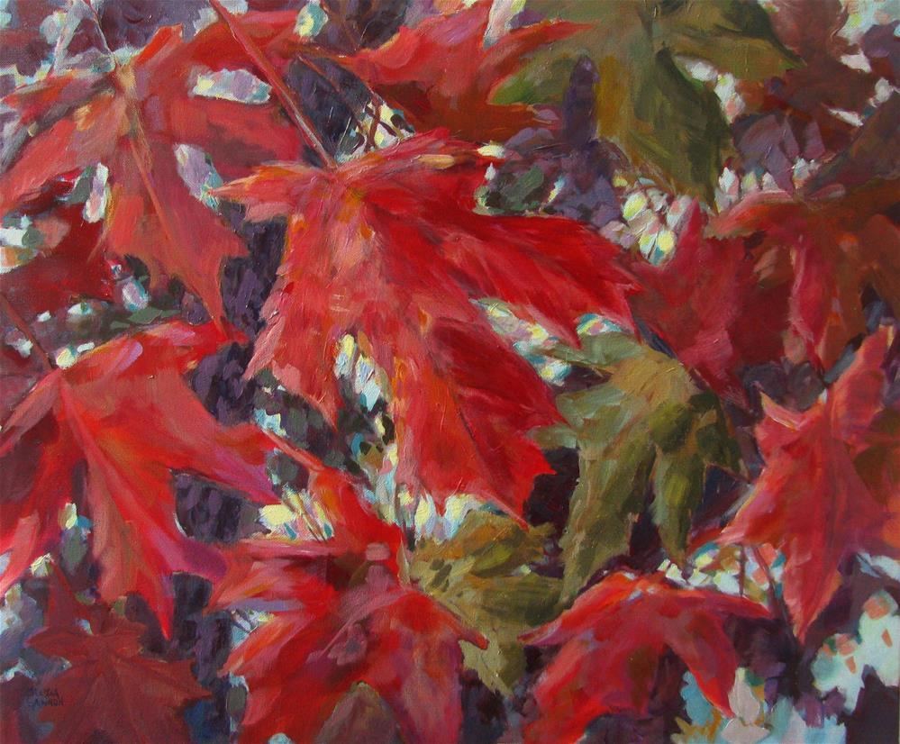 """Maple Leaf Dance"" original fine art by Melissa Gannon"