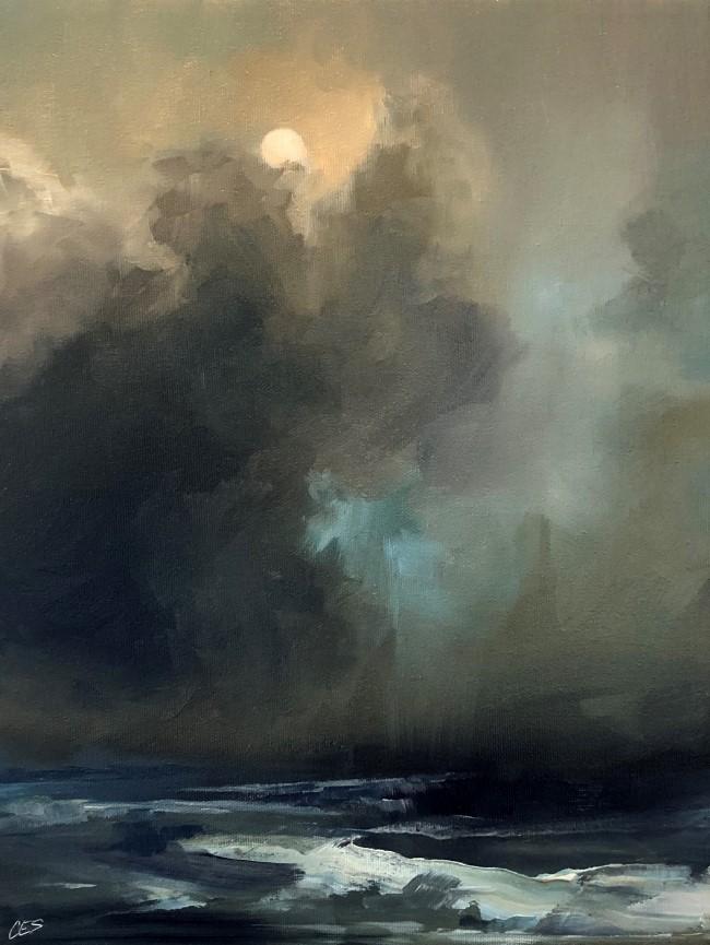 """""""Winter Nocturne"""" original fine art by Christine E. S. Code"""
