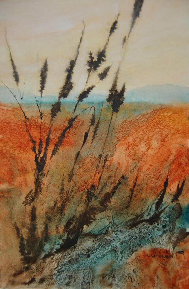 """Wild Grasses"" original fine art by Jean Lurssen"