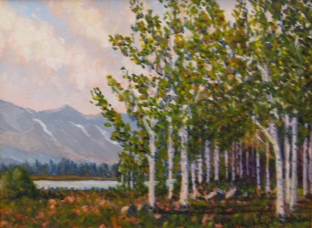 """""""Cabin View"""" original fine art by William W. Hoyt"""