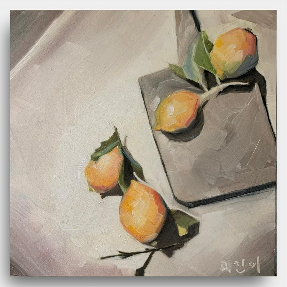"""""""869 Lemons Sooner than Later"""" original fine art by Jenny Doh"""