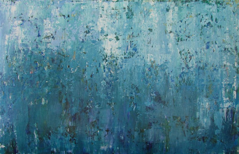 """26 x 17 inch acrylic Ocean Deep"" original fine art by Linda Yurgensen"