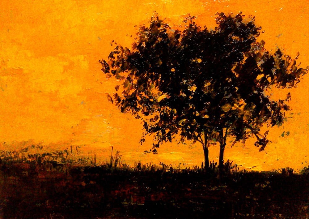 """""""Late Evening in the Park"""" original fine art by Bob Kimball"""