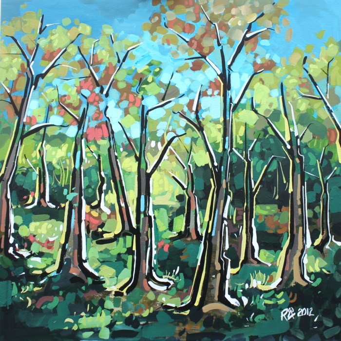 """""""In the forest 9 - The Big One"""" original fine art by Roger Akesson"""