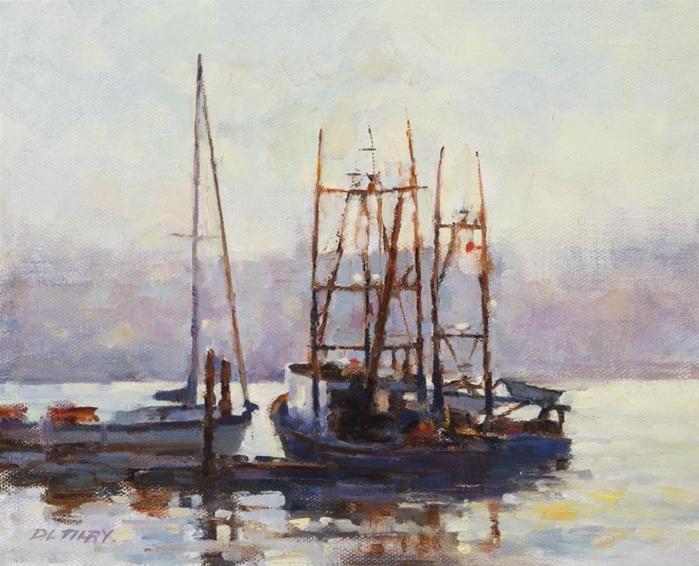 """""""Light in the Harbour"""" original fine art by Deborah Tilby"""