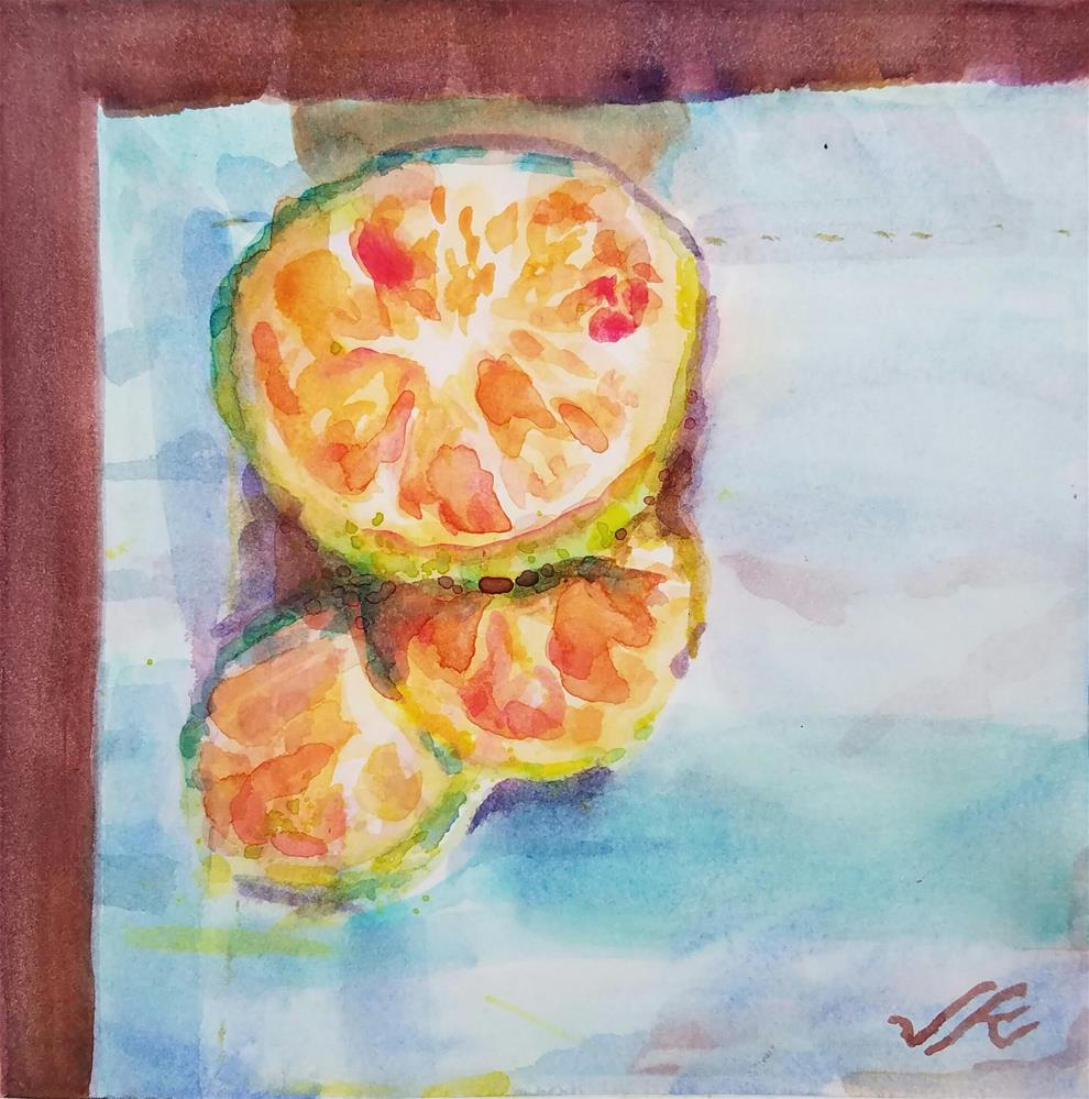 """Green Mandarin"" original fine art by Jean Krueger"