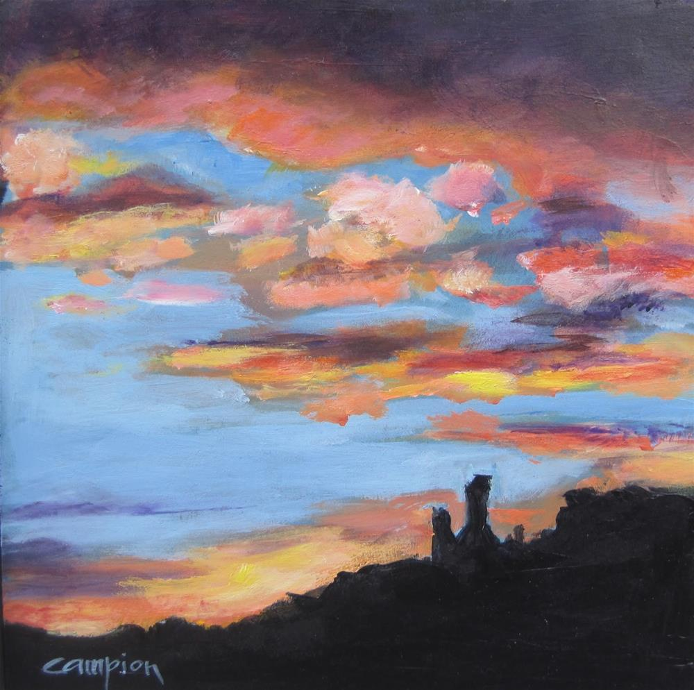 """145 Chimney Rock, View from Ghost Ranch"" original fine art by Diane Campion"