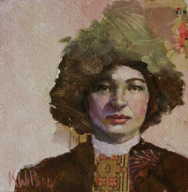"""""""Brown Hat"""" original fine art by Katie Wilson"""