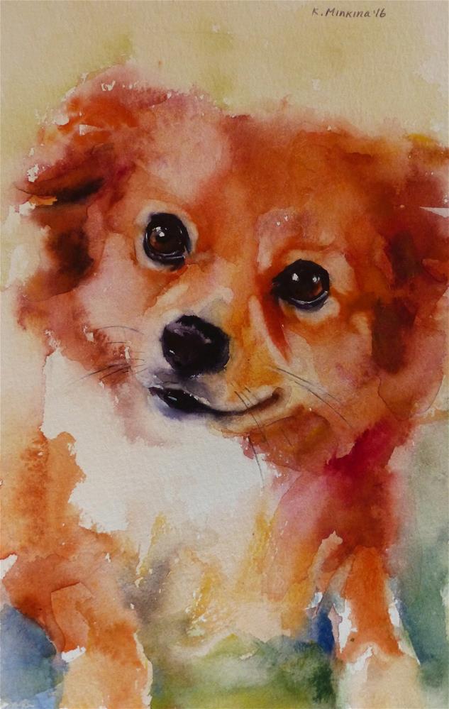 """adopt207 - Towa"" original fine art by Katya Minkina"
