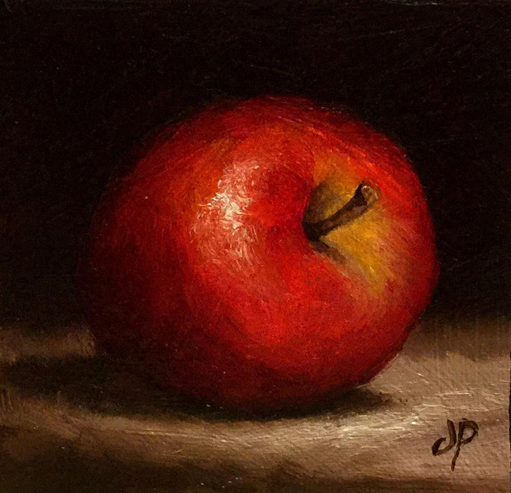 """Little Red Apple"" original fine art by Jane Palmer"