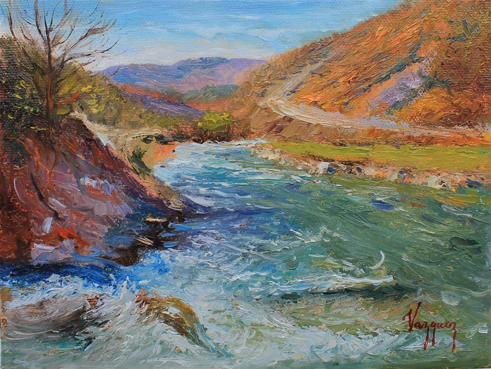 """""""River stream"""" original fine art by Marco Vazquez"""