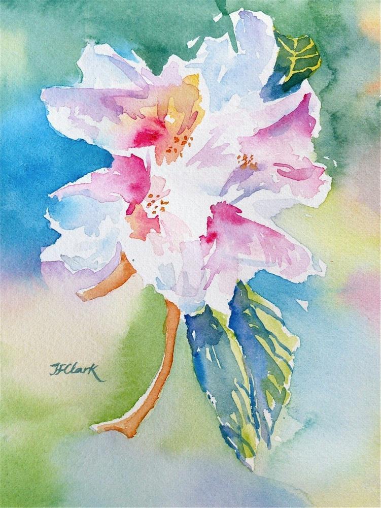 """Flower, study #5"" original fine art by Judith Freeman Clark"