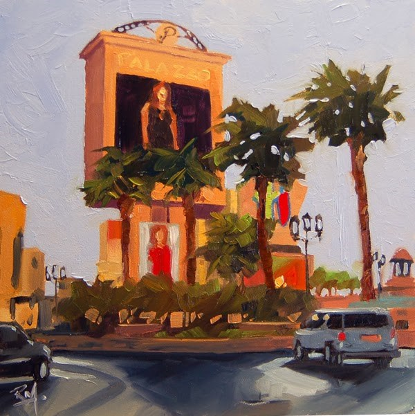 """No 649 Las Vegas Baby No 2"" original fine art by Robin J Mitchell"