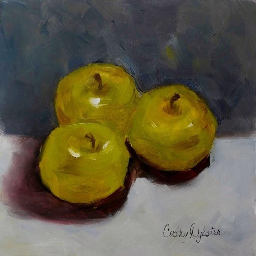 """My Green Apples"" original fine art by Cathy Dykstra"