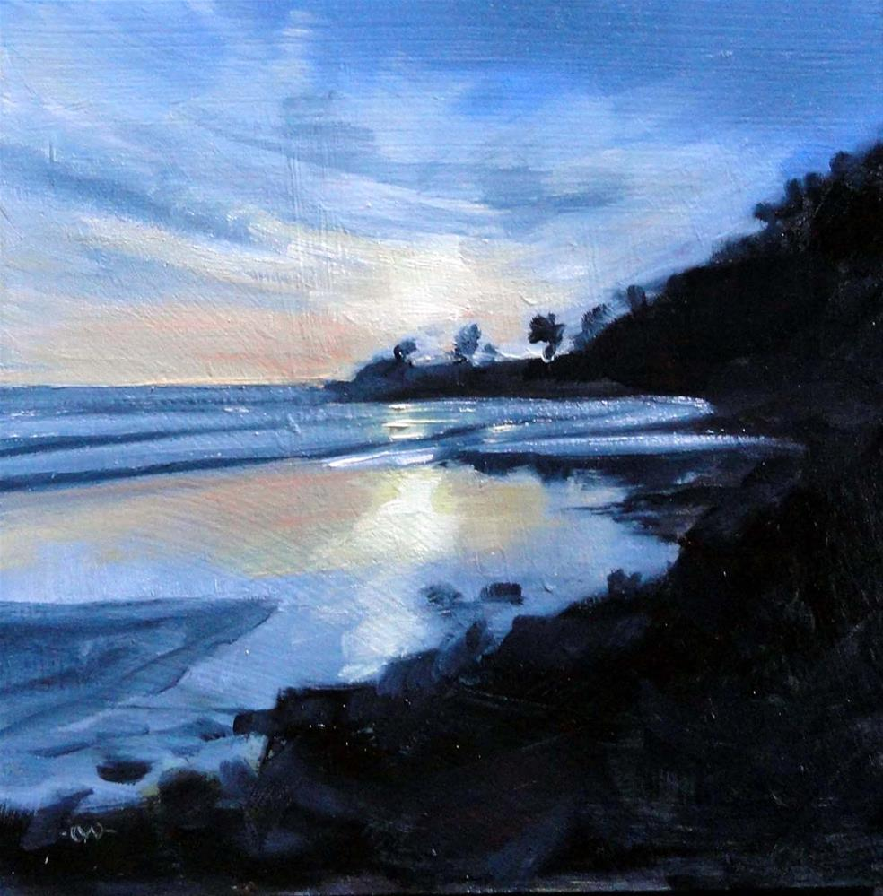 """""""Reflections at Low Tide"""" original fine art by Cietha Wilson"""
